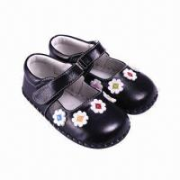 China Toddler shoes for babies, made of imported cow leather, various colors are available  on sale