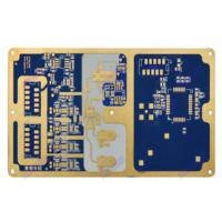Wholesale 6 Layer Pcb Board Prototype Customized Blue Soldermask Rogers Circuit Board from china suppliers