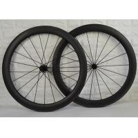 Wholesale 55mm Depth 700c Carbon Spoke Wheels Fast Riding With Basalt Brake Surface from china suppliers