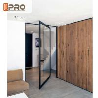 Wholesale Custom - Made Interior Aluminum Pivot Doors For Room Dividers ISO9001 from china suppliers