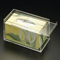 Wholesale 25cm * 15cm * 9cm Acrylic Tissue Box Holder With Customize Logo from china suppliers