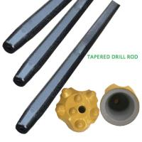 Wholesale Hex22mm / Hex25mm Rock Tapered Drill Rod , Blast Hole Drilling Tapered Rod from china suppliers