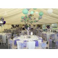 Wholesale Colorful Ball Decoration Luxury Wedding Tents , Huge Canopy Tent Anodized Aluminum Frame from china suppliers