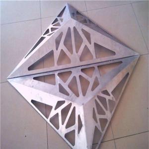 Wholesale Perforated PVDF Aluminum Veneer Panel , Building Facade Design Aluminum Composite Panel from china suppliers