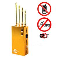 Wholesale Powerful Golden Portable Cell phone  Wi-Fi  GPS Jammer from china suppliers