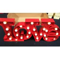 Quality Metal Marquee LED Letter Lights , Wedding Decoration Illuminated Love Sign for sale