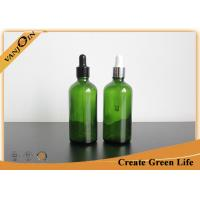Wholesale Essential Oils Glass Bottles 100ml Green Boston Round Glass Bottle With Dropper from china suppliers