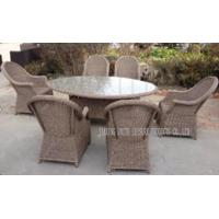 Wholesale All Weather Patio Garden Outdoor Wicker Dining Set Modern Style from china suppliers