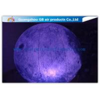 Quality Giant Inflatable Lighting Decoration Ground Moon Ball With LED Lights for sale
