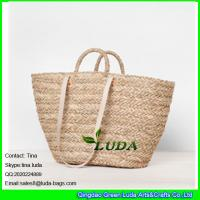 Wholesale LUDA popular beach market basket lady seagrass straw shopping basket bag from china suppliers