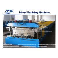 Wholesale Floor Deck Roll Forming Machine 22KW Main Power 0.8-1.6mm Thickness from china suppliers