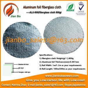 Quality Aluminum foil fiberglass cloth as building construction material for sale
