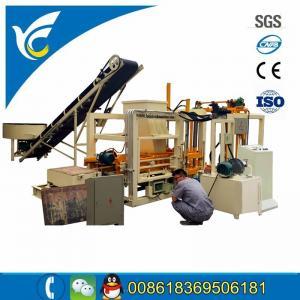 China QT4-18 hydraform auto concrete block machine line cerb stone block for kenya client on sale