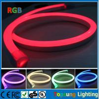 Wholesale SMD5050 full color RGB 11x18mm 110V CE ROHS approval led neon flex with DMX controlller from china suppliers