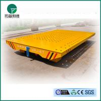 Quality Anti-high temperature electric transfer trolley Railway motorised flat trailer applied in painting line for sale
