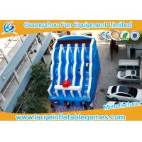 Wholesale 0.55mm PVC Tarpaulin Commercial Inflatable Slide , Large Inflatable Water Slide from china suppliers