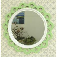 Wholesale Decorative hollow out wavy edge framed round wall mirror from china suppliers