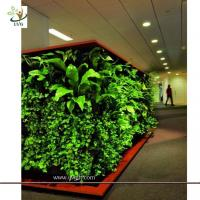 Wholesale UVG GRW09 Wholesale green artificial plants for Plastic Green Wall garden landscaping from china suppliers