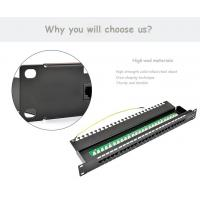 Wholesale 25 / 50 Port CAT3 RJ11 Voice Patch Panel 6P4C Type Krone / 110 IDC from china suppliers
