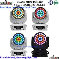 Wholesale RGBW LED Moving Head Wash DMX512 Disco DJ Stage Lighting 360 Watt from china suppliers