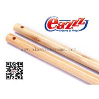 Wholesale Round Hook Strong Broom Handles / Natural Varnish Wooden Handle from china suppliers
