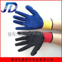 Buy cheap Work safety industrial latex wrinkling nylon gloves from wholesalers