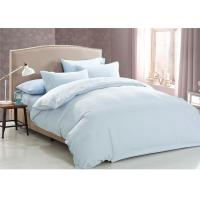 Wholesale Cotton Jacquard Hotel Bedding Collections Light Blue Queen Size from china suppliers