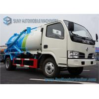 Buy cheap High Powered 4000L Suction Sewage Vacuum Tank Truck With Cylinder Shaped Tank from wholesalers