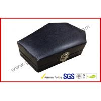 Wholesale Wood Grain Jewellery Showing Gift Packaging Boxes , Black Rigid Paper Rings Packaging Boxes from china suppliers