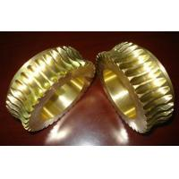 Wholesale Durable Gold Brass Worm wheel / gear hobbing services and CNC Turning from china suppliers