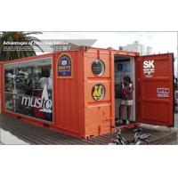 Wholesale Color Steel Storage Shipping Container Housing For Shop / Store , Glass Door from china suppliers