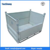 Wholesale Wholesale warehouse galvanized steel container,foldable metal cage storage container,folding steel storage cag from china suppliers