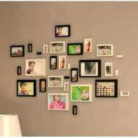Wholesale 3D wall stickers home decor background stickers wooden decoration stickers photo frame home decoration from china suppliers