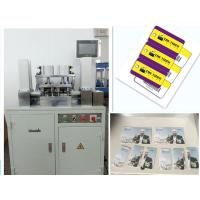 Wholesale 380V 1.5kw 3 Key Tags Credit Card Punching Machine With CR80 Standard size from china suppliers