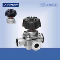 Buy cheap 1 Inch Manual TEE valve sanitary stainless fittings with Clamp Ends for Pharmacy Industry from wholesalers