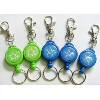 Wholesale 32mm Retractable Metal ID Badge Reel , Yoyo Key Holder With Dome Epoxy Sticker from china suppliers