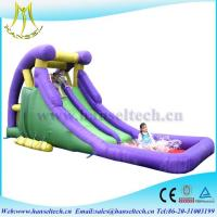 Wholesale Hansel hot selling children entertainment PVC inflatable bouncer slide jumping slide for sale from china suppliers