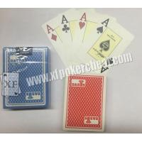 Wholesale Gambling Gadget Naipes Fournier Plastic 2818 Red / Blue Jumbo Face Playing Cards from china suppliers