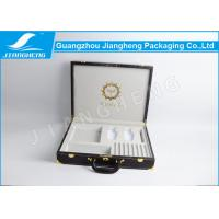 Buy cheap Popular Leather Gift Box Perfume Gift Set Suitcase Box With Handle / Locks from wholesalers