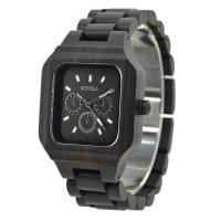 Wholesale Black Color Natural Wooden Watch / Wooden Band Watches With Harden Mineral Glass from china suppliers
