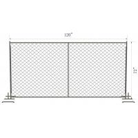 Wholesale 8 foot x 10 foot chain link temporary construction fence panels 60mm x 60mm mesh x 2.7mm diameter  hot dipped galvanized from china suppliers