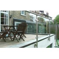 Wholesale prima stainless steel round pipe glass railings for outdoor deck from china suppliers