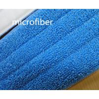 Wholesale Microfiber Wet Mop Heads 13 * 49cm Twisted 480gsm Absorbent  Nylon Self-adhensive Mop Pad from china suppliers
