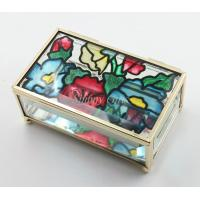 Wholesale Shinny Gifts New Wedding Gifts Enamel Glass Jewelry Boxes Collection Boxes from china suppliers