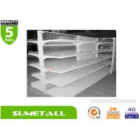 Wholesale Doule Sided Convenience Store Shelving , Retail Store Shelving With Clear PVC Plastic Back Panel from china suppliers