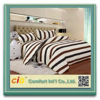 Wholesale Striped Luxury Soft Fitted Bedding Sheets With Cotton Or Polyster White / Blue / Red from china suppliers