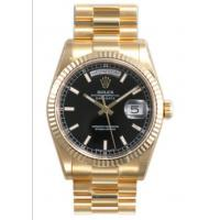 Wholesale Rolex Day Date Black Index Dial President Bracelet 18k Yellow Gold Mens Watch 118238BBKSP from china suppliers
