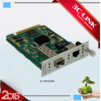 Wholesale 10/100/1000Base - TX to 1000Base - FX mutiple services Managed Media Converter Card from china suppliers