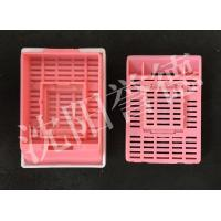 Wholesale Mid Size Tissue Embedding Cassette Pink Color Round Hole Layout Without Lid from china suppliers