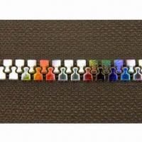 Buy cheap Plastic open end zipper with colorful teeth from wholesalers